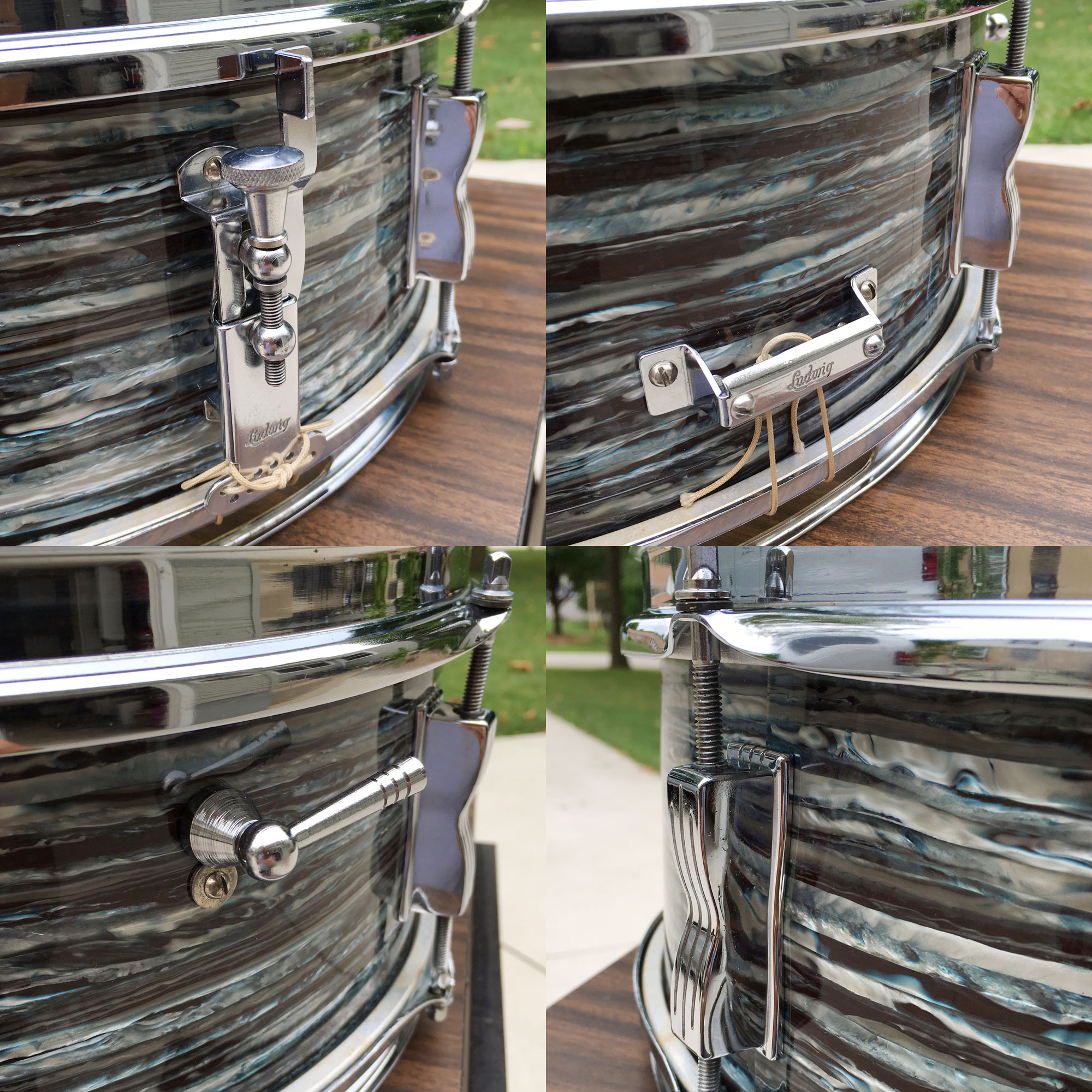 1968 Ludwig Pioneer 5x14 Snare in Oyster Blue Pearl