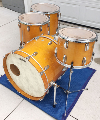 Beautiful Custom Order 2006 Ludwig Classic Maples 13/16/18/22 in Gold Lacquer