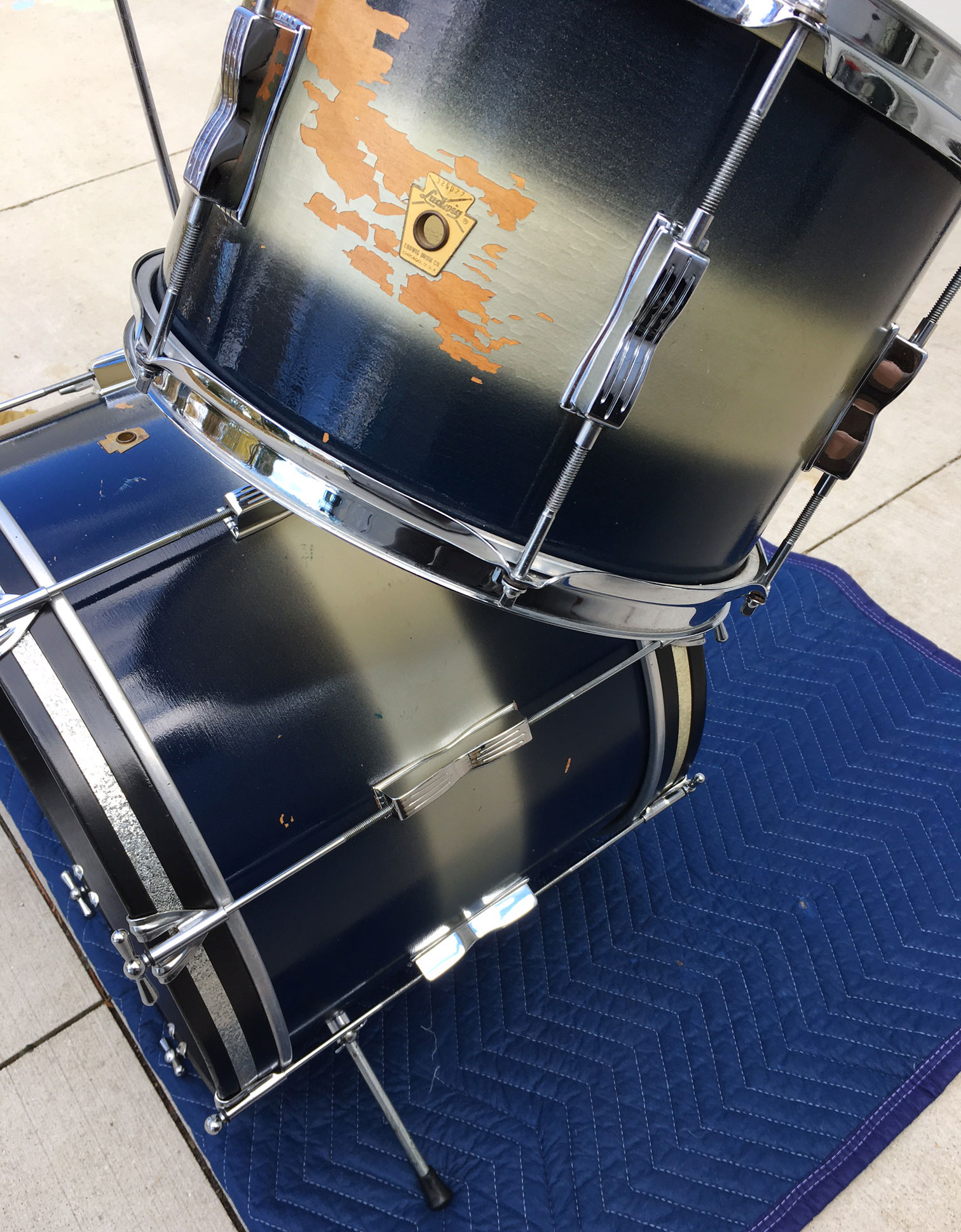 1960s Ludwig Club Date Combo 12/20 in Blue/Silver Duco