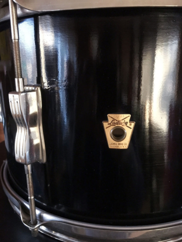 "1965 Ludwig 12"" Club Date Tom in Black Lacquer"
