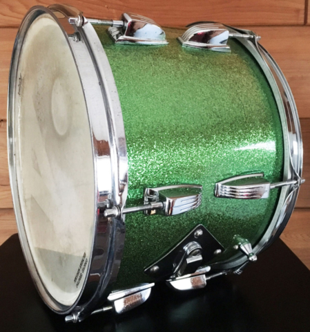 "1964 Ludwig 13"" Classic Tom in Faded Green Sparkle"