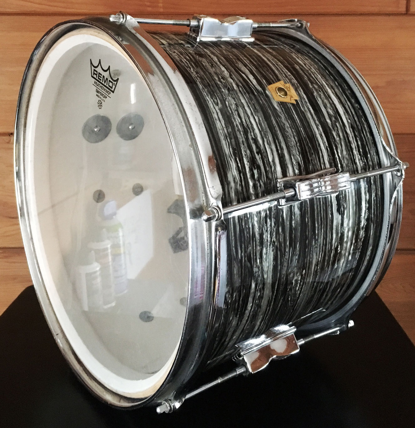"1967 Ludwig 13"" Club Date Tom in Oyster Black Pearl"