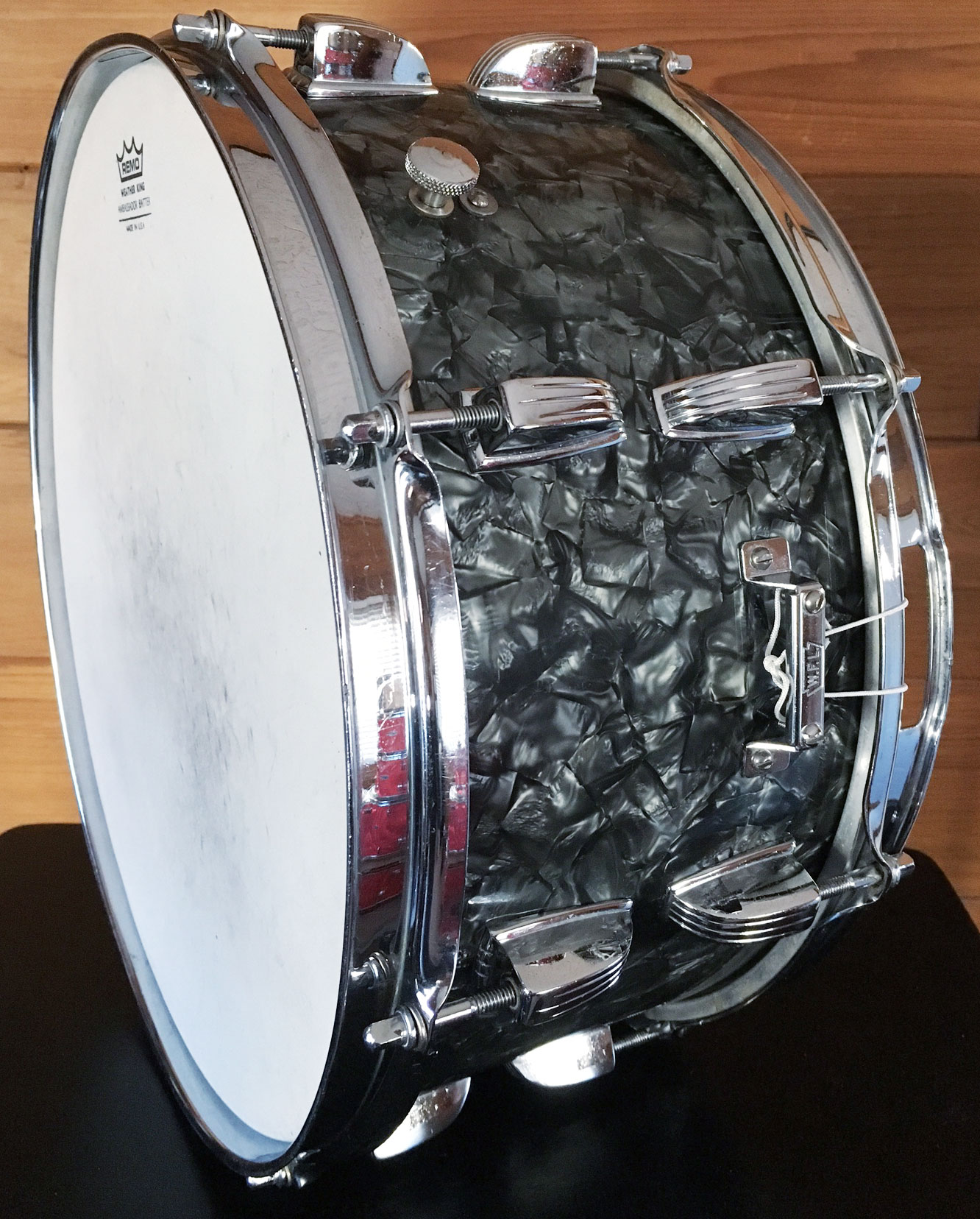 1958-1959 Ludwig WFL 6.5x14 School Festival Snare in Black Diamond Pearl