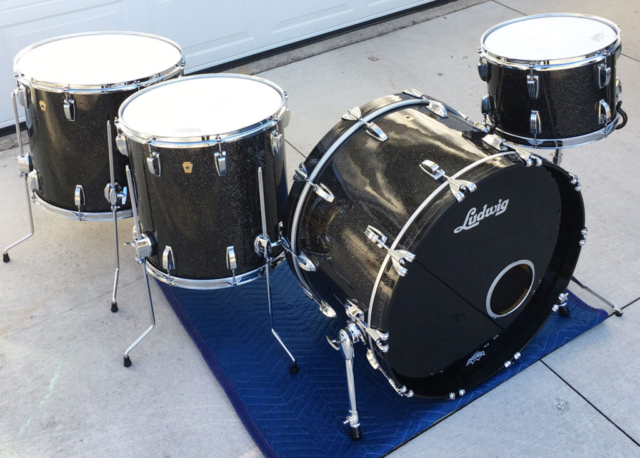 2015 Ludwig Legacy Maple Drums in Black Glass Glitter