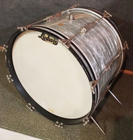 "Early 1960s Pre-Serial Ludwig 20"" Club Date Bass Drum in Sky Blue Pearl"