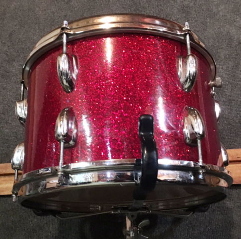 "1966 Slingerland 12"" Tom in Red Glass Glitter"