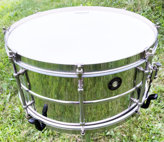 1930s Ludwig Pioneer Nickel Over Brass 6.5x14 Eight Lug Model Snare Drum