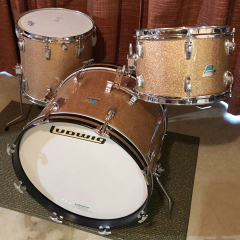 1970s Ludwig Downbeat 12/14/20 in Champagne Sparkle