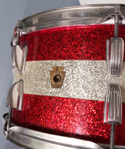 1961 Ludwig School Festival 6.5x15 Snare Drum in Red/Silver/Red Sparkle