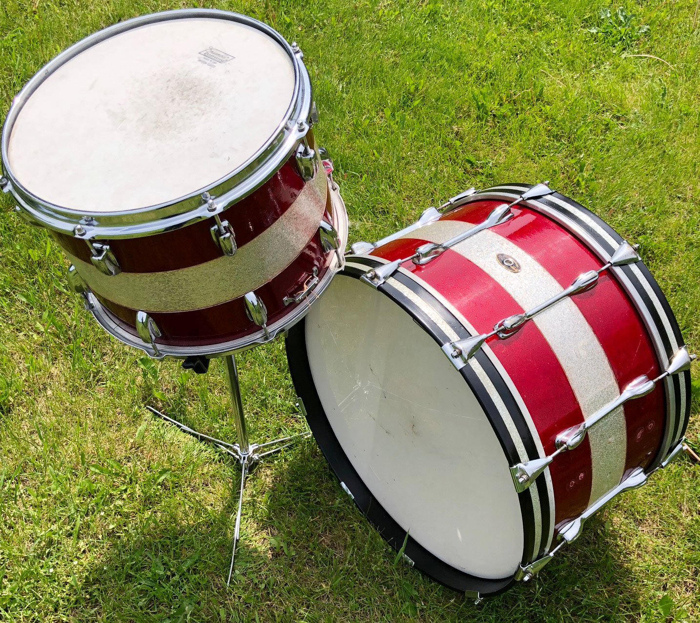 1964 Slingerland 14/22 Tri-Band Marcher Combo Kit