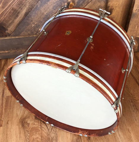 1961 Ludwig 12x20 Hobby Bass Drum in Mahogany