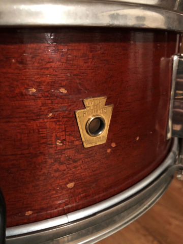 1957 WFL 5.5x14 Supreme Concert Snare Drum in Mahogany