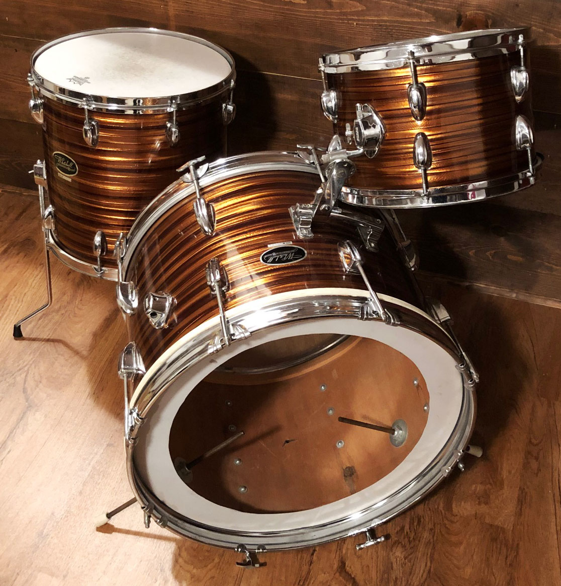 1960s Whitehall 12/14/20 Drum Set in Tigers Eye Pearl