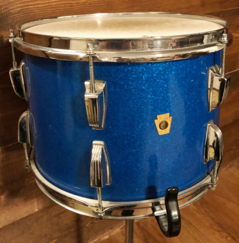 1967 Ludwig 13 Inch Tom in Blue Sparkle