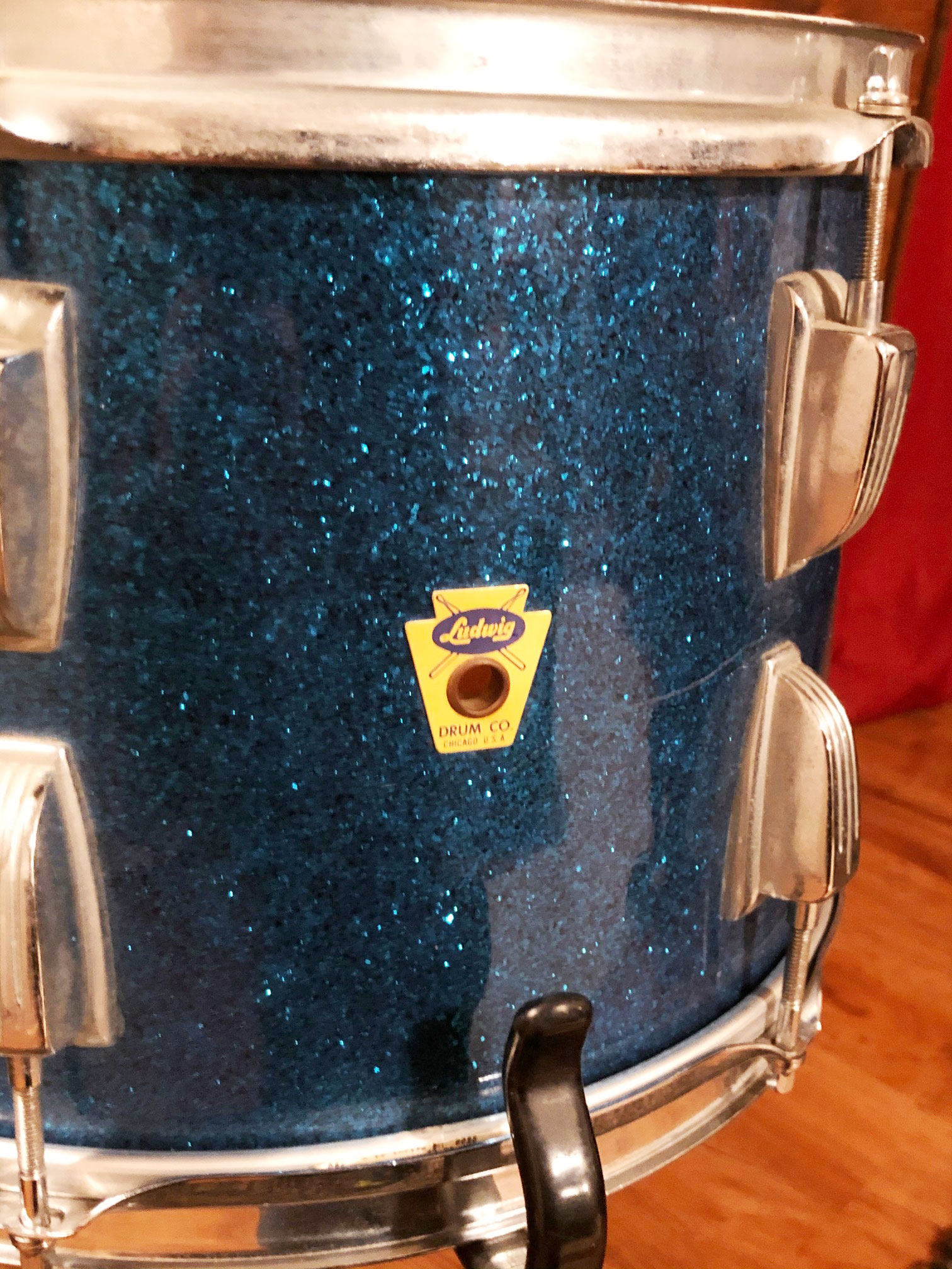 1959 Ludwig 9x13 Tom in Sparkling Blue Pearl